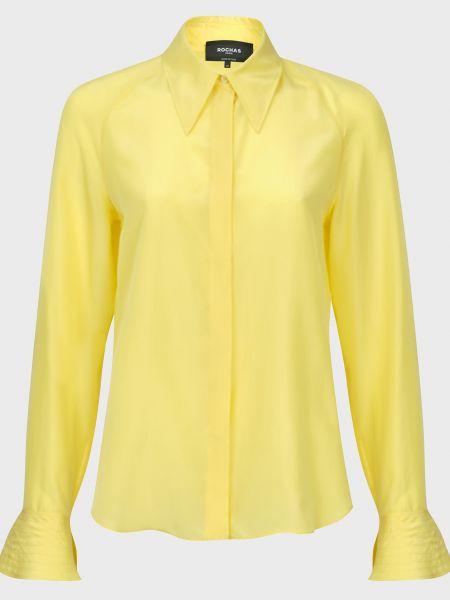 Шелковая блузка - желтая Rochas