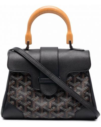 Czarna torebka skórzana Goyard