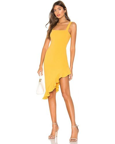 Трикотажное платье миди - желтое Privacy Please