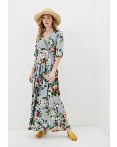 Серое платье с запахом мадам т