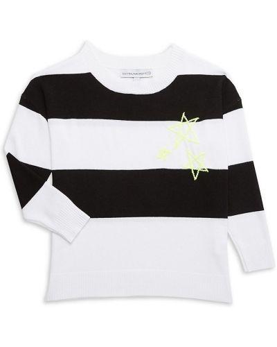 Biały sweter z haftem Central Park West