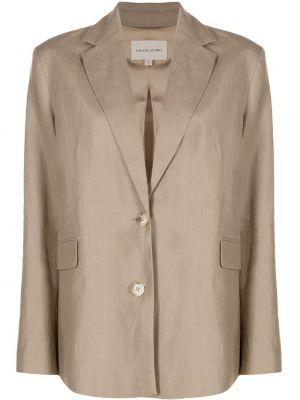 Однобортный удлиненный пиджак с воротником на пуговицах Loulou