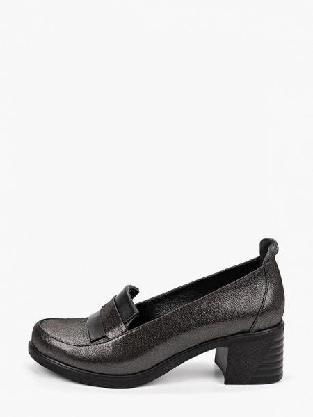 Туфли черные велюровые Pierre Cardin