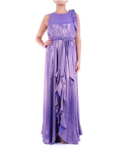Fioletowa sukienka długa Maesta