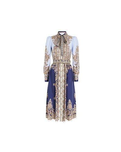 Повседневное синее платье Zimmermann