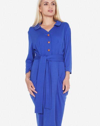 Платье осеннее синее Artwizard