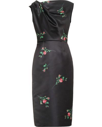 Платье миди с цветочным принтом классическое Rochas