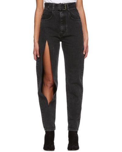 Прямые белые прямые джинсы стрейч с пряжкой Maison Margiela