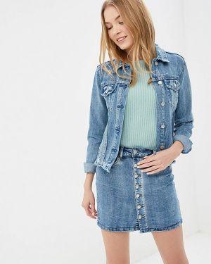 Джинсовая куртка весенняя синий Softy