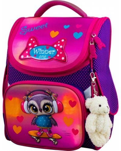 Розовый школьный ранец на молнии Winner One