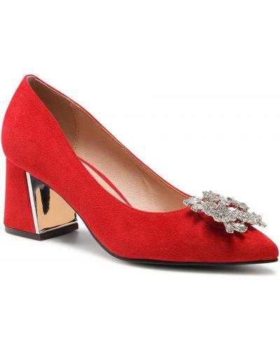Czerwone półbuty eleganckie Menbur