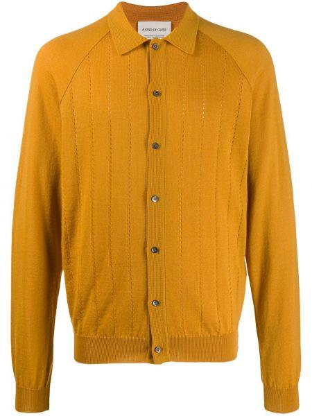 Шерстяной классический желтый кардиган на пуговицах A Kind Of Guise