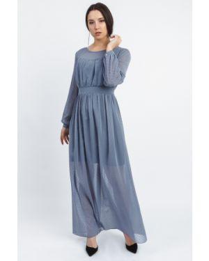 Платье макси серое на пуговицах Lacywear