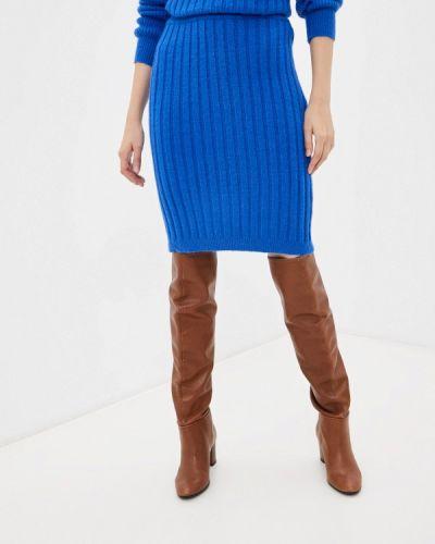 Зауженная юбка - синяя By Swan