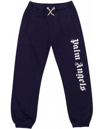 Spodnie dresowe z printem - niebieskie Palm Angels