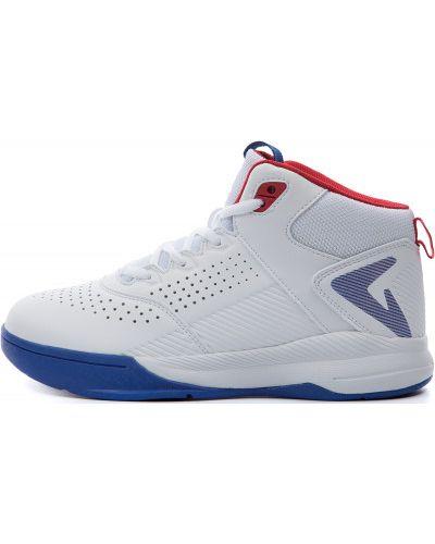 Кожаные баскетбольные белые кроссовки на шнуровке Demix