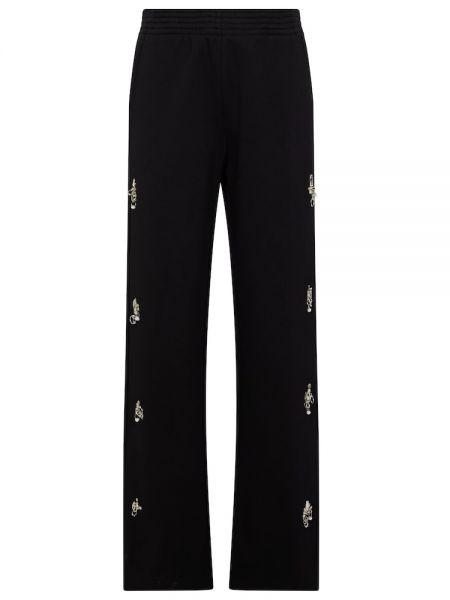 Czarne joggery bawełniane Givenchy