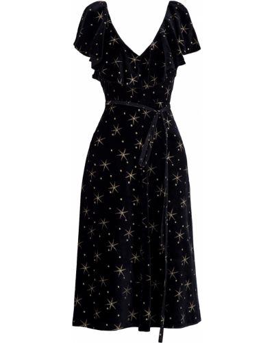 Платье с V-образным вырезом с оборками Valentino