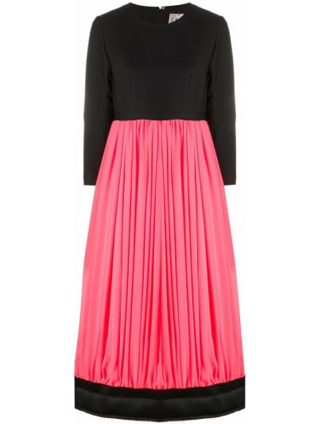 Прямая юбка со складками на молнии с вырезом Comme Des Garçons