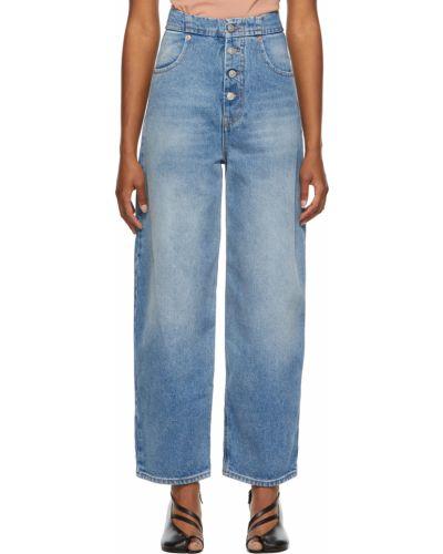 Джинсовые широкие джинсы - белые Mm6 Maison Margiela
