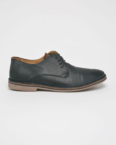 Кожаные туфли на каблуке на шнуровке Wojas