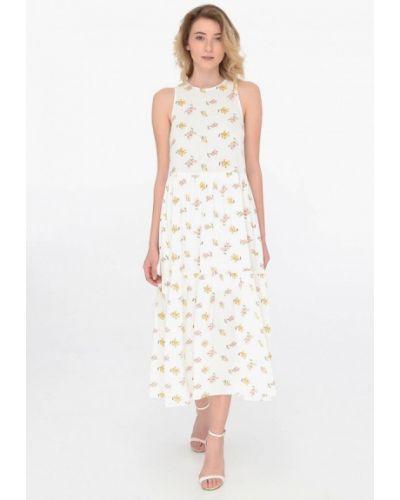Белое прямое платье Shtoyko