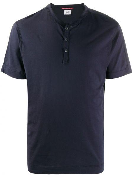 Рубашка с короткими рукавами с воротником-стойкой прямая Cp Company Kids