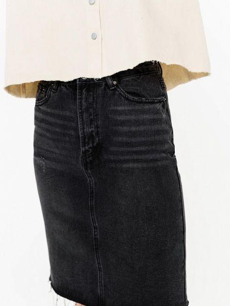 Черная джинсовая юбка свободного кроя Befree