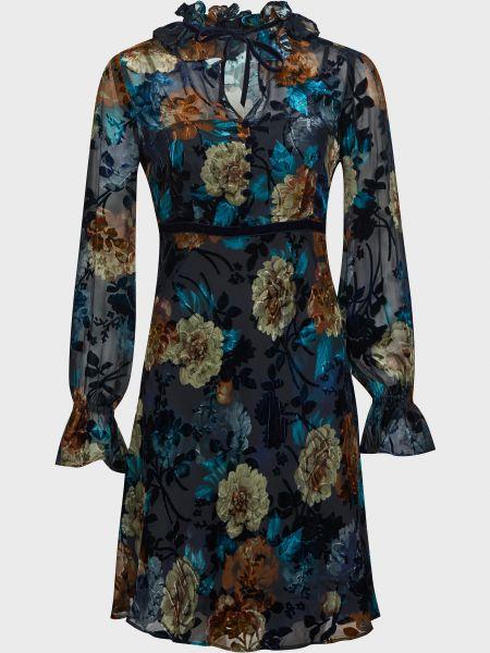 Шелковое платье - черное Luisa Spagnoli
