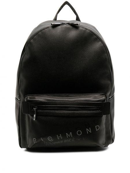 С ремешком черный кожаный сумка на плечо John Richmond