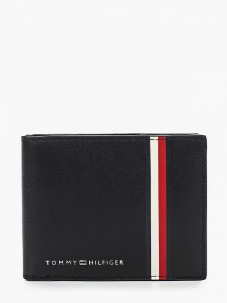 Кожаный черный кошелек Tommy Hilfiger
