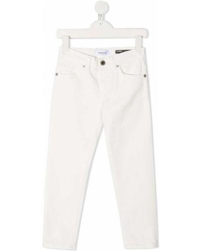 Хлопковые белые джинсы на пуговицах Dondup Kids