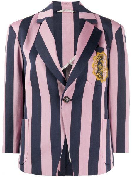 Шерстяной синий пиджак с накладными карманами Vivienne Westwood Anglomania