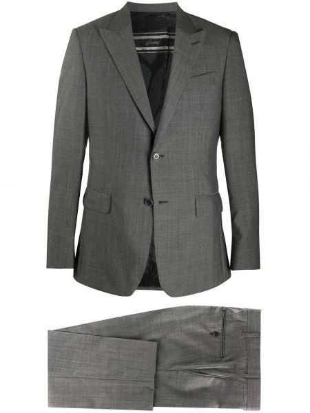Podwójnie bawełna długo kostium garnitur Brioni