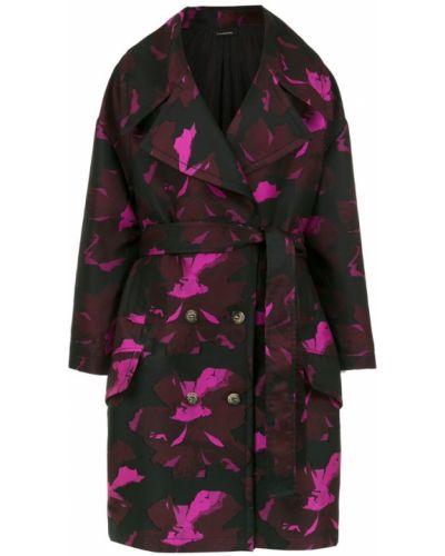 Черное пальто классическое с поясом в морском стиле à La Garçonne