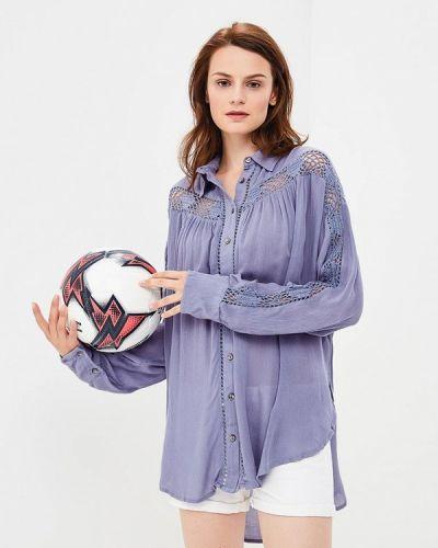Фиолетовая кружевная блузка Free People