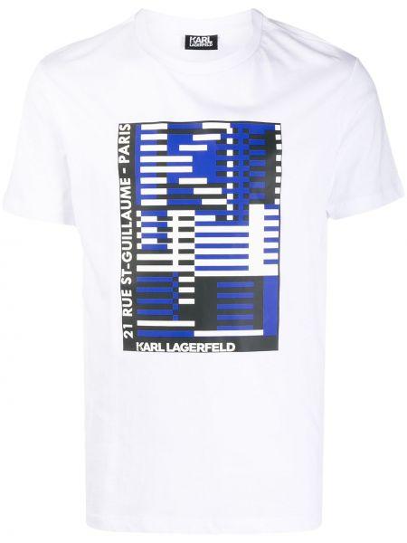 Koszula krótkie z krótkim rękawem z logo z nadrukiem Karl Lagerfeld