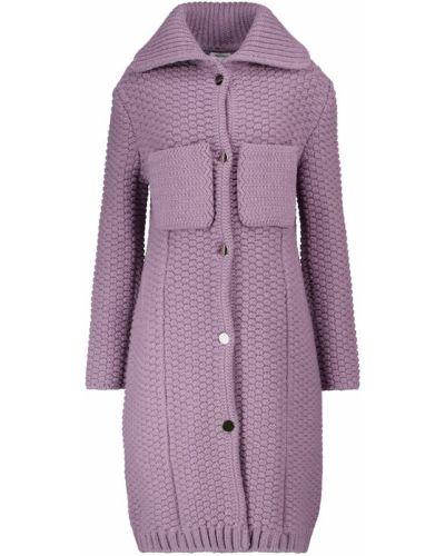Фиолетовый шерстяной кардиган Bottega Veneta
