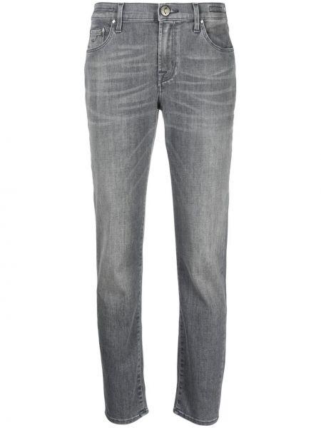 Прямые серые джинсы на пуговицах Jacob Cohen