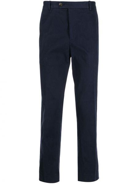 Niebieskie spodnie z paskiem Gieves & Hawkes