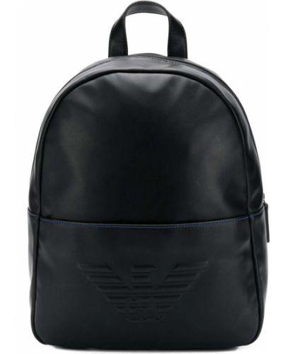 Черный рюкзак на молнии на бретелях Emporio Armani Kids