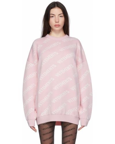 Шерстяной свитер - белый Vetements