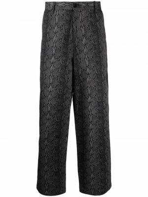 Czarne spodnie z paskiem bawełniane Goodfight
