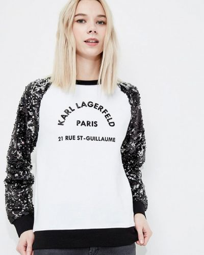 Белый свитшот Karl Lagerfeld