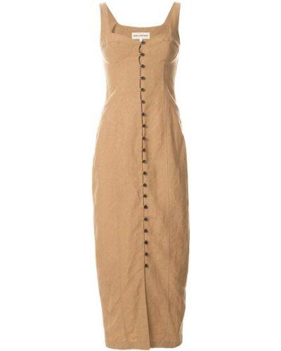 Платье на пуговицах с вырезом Mara Hoffman