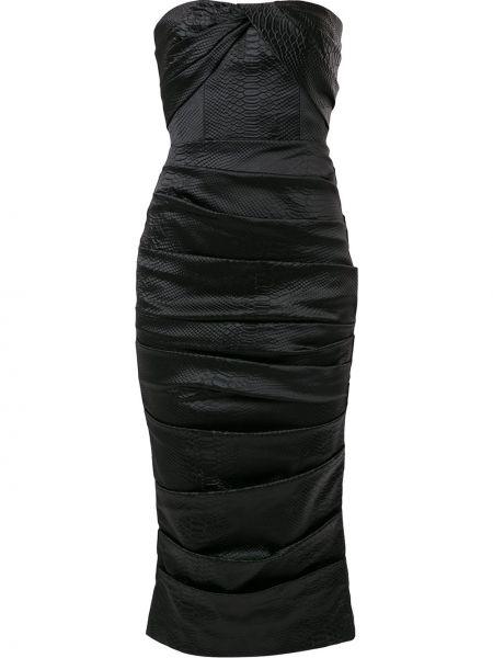 Платье миди на молнии со складками Alex Perry