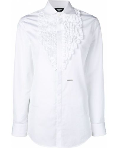 ruffle-embroidered shirt Dsquared2