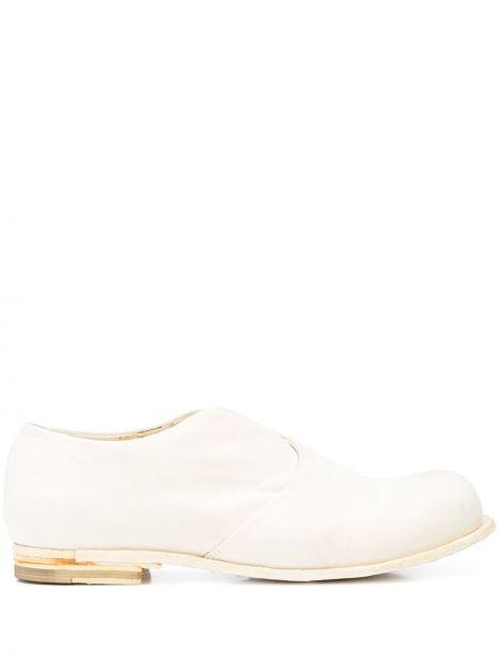 Кожаные белые слиперы на каблуке Officine Creative