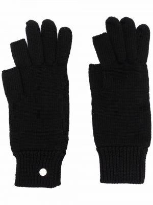 Czarne rękawiczki wełniane Rick Owens