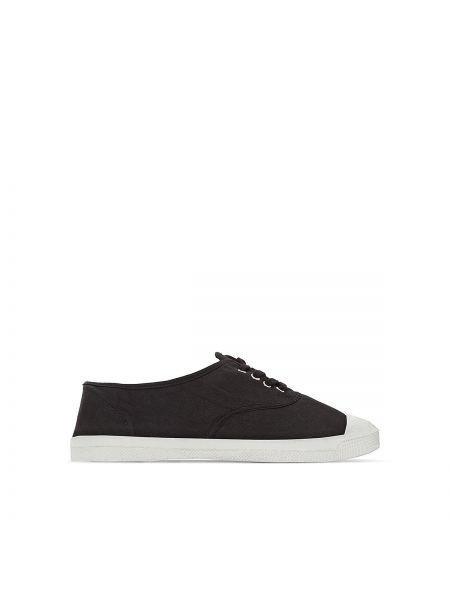Черные кроссовки на шнуровке Bensimon